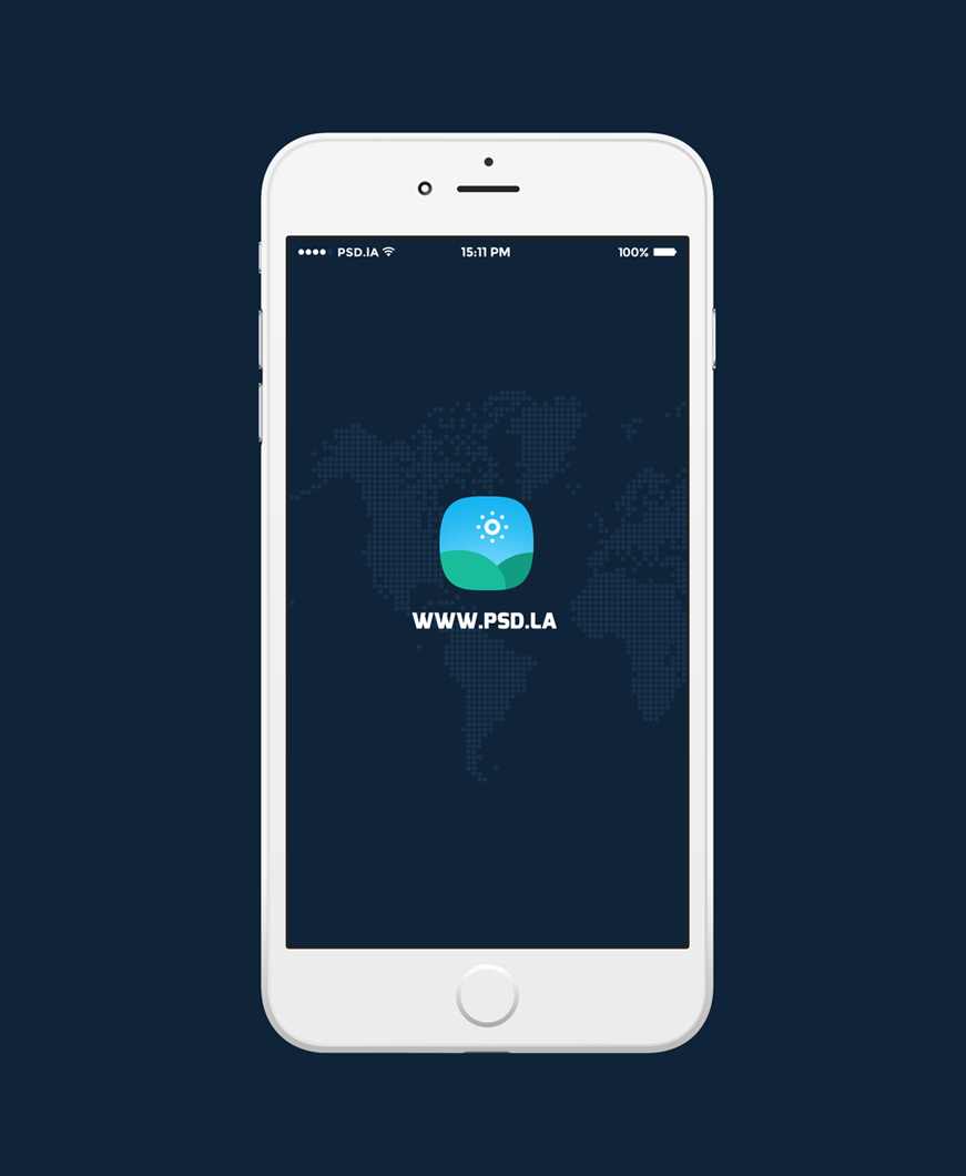 iPhone 6 Plus Flat Sketch Free PSD by Pixeful themes in 35个新鲜的iPhone6展示模型PSD下载