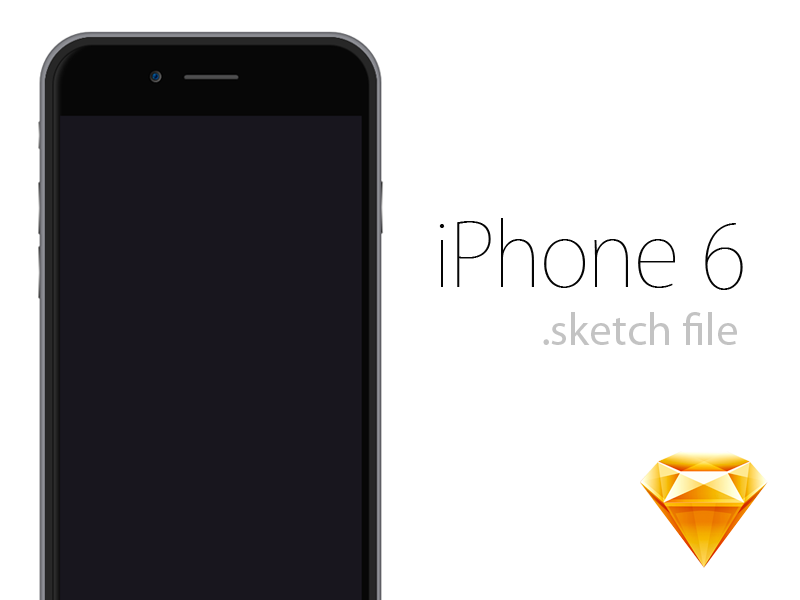 iPhone 6 .sketch Freebie by Aubrey in 35个新鲜的iPhone6展示模型PSD下载