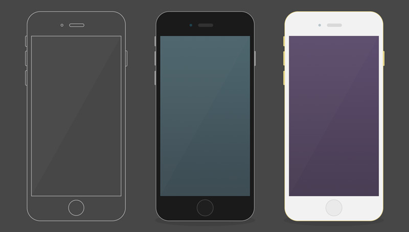 Free iPhone6 flat mockup by Stelios Strongylis in 35个新鲜的iPhone6展示模型PSD下载