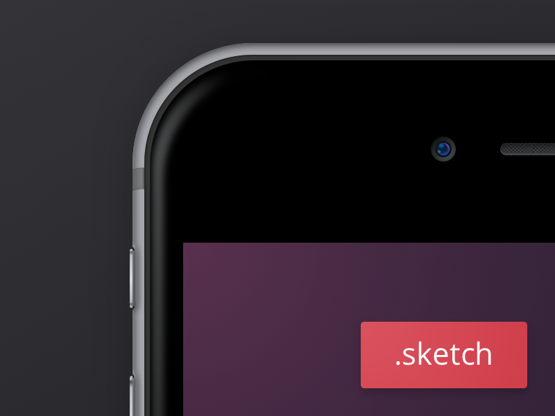 iPhone 6 Plus - Sketch Freebie by Leo Drapeau in 35个新鲜的iPhone6展示模型PSD下载
