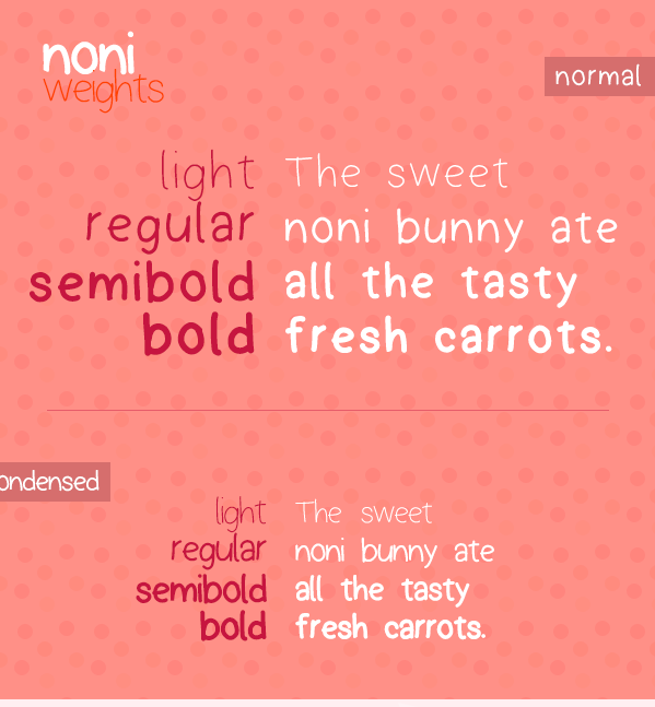 Noni Free Handwritten Font by Ahmed Barakat in 2014年几月必备的17个免费设计字体下载