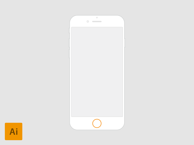 iPhone 6 - 4.7 vector for Wireframes by Fedza Miralem in 35个新鲜的iPhone6展示模型PSD下载
