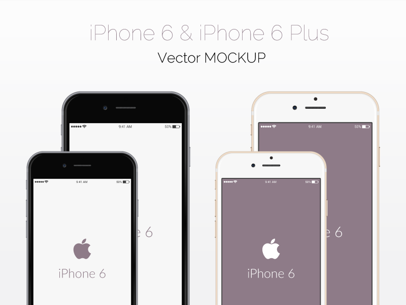 Vector iPhone 6 Mockup by GraphBerry in 35个新鲜的iPhone6展示模型PSD下载