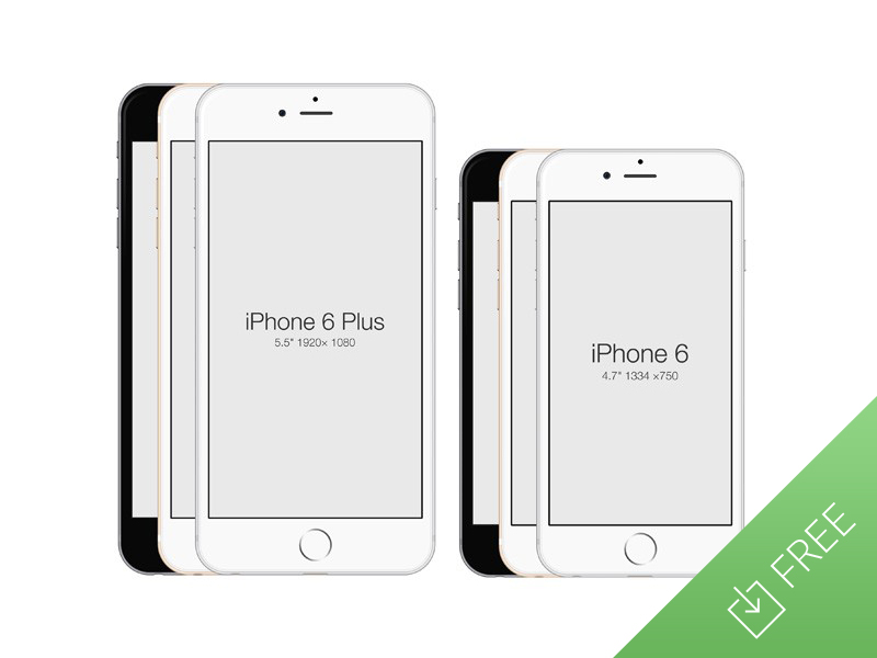 iPhone 6 - Free PSD Mockup by Medialoot in 35个新鲜的iPhone6展示模型PSD下载