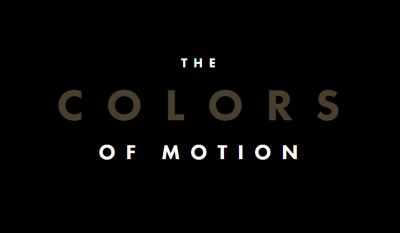 The Colors Of Motion in 为您准备的35个新鲜的单页网站设计灵感欣赏