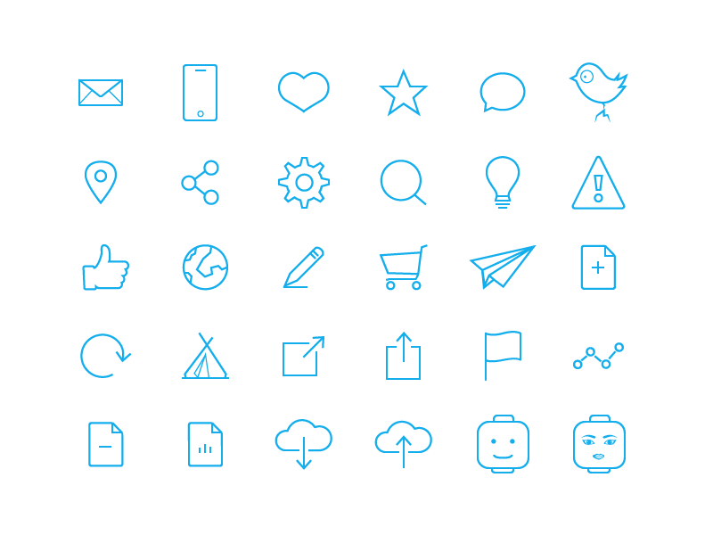 Bollhavet Free 74 Flat Line Icons by Jonas Lampe Persson in 2014年10月的28个免费扁平化图标合集