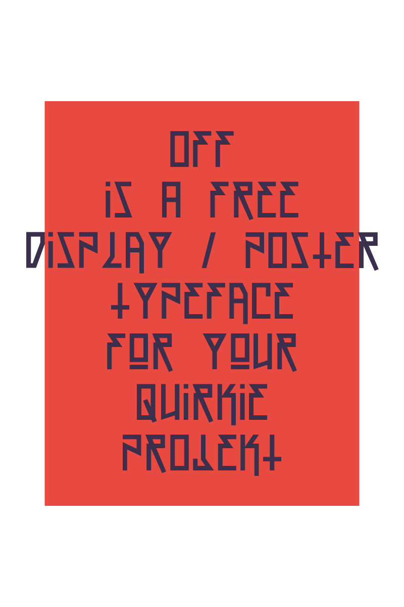 Off! Free Font by Rendra Diardjo in 2014年10月的20套新鲜字体下载