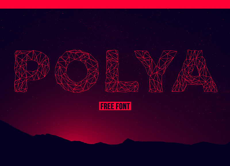 POLYA Free Font by Adrien Coquet in 2014年10月的20套新鲜字体下载