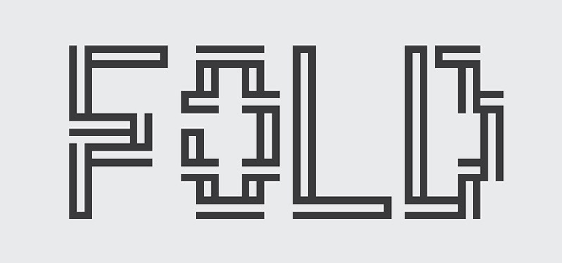 Fold Free Font by Isaac Taracks in 2014年10月的20套新鲜字体下载