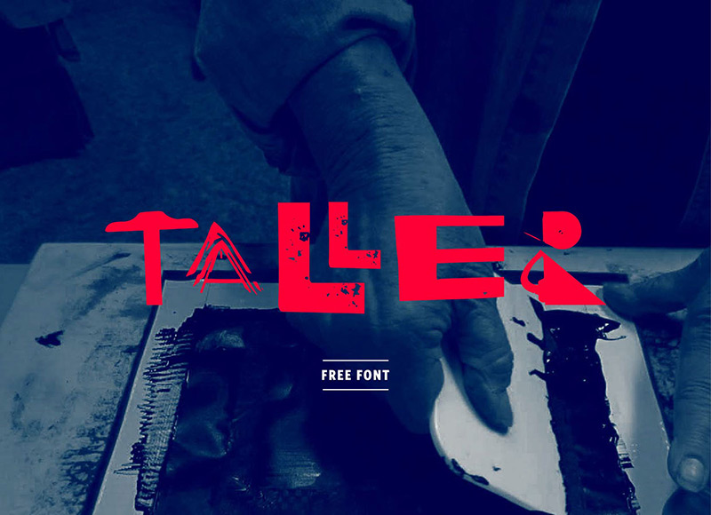 Taller Free Font by luis molina in 20个2014年10月整理的最新时尚设计字体下载