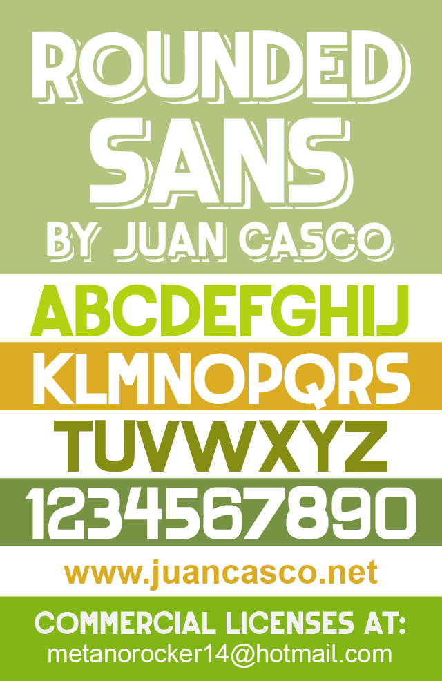 Rounded Sans by Juan Casco in 20个2014年10月整理的最新时尚设计字体下载