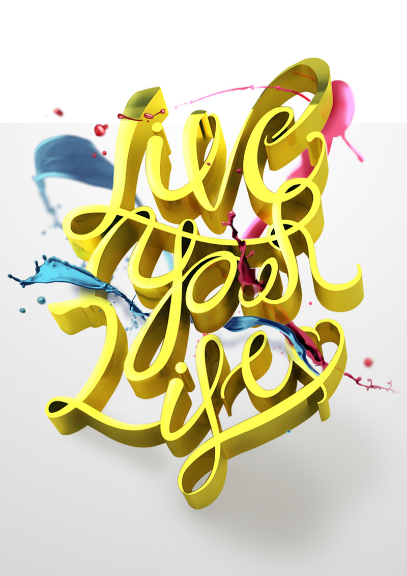 Live Your Life by Thanh Tu Vo in 时尚有创意的字体设计灵感分享