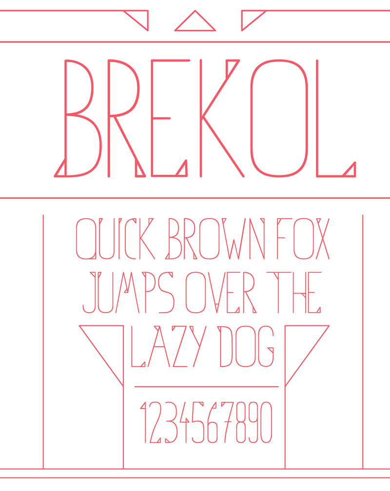 Brekol Free Font by Adam Boro in 2014年10月的20套新鲜字体下载