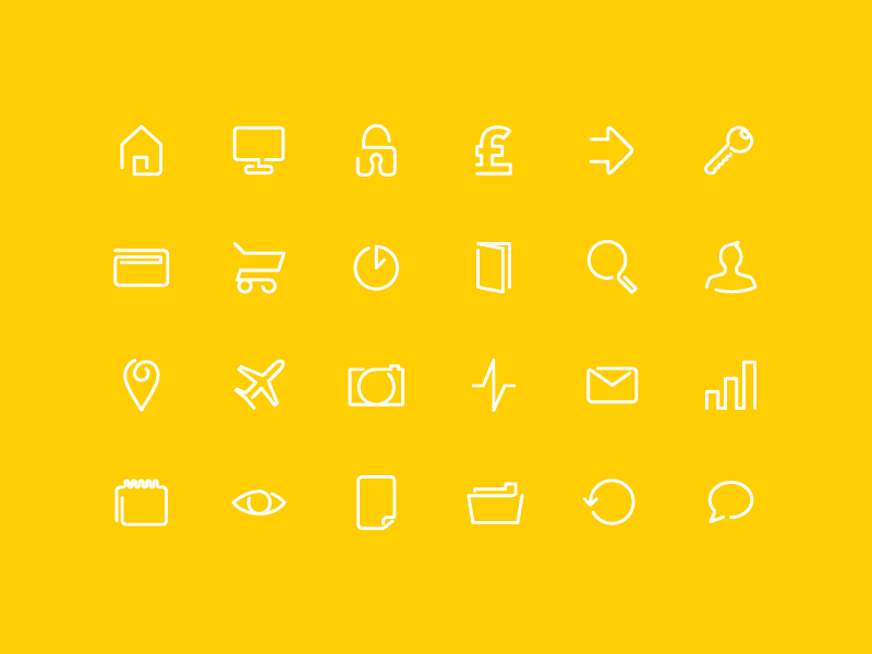 Continuos Line Icon Pack by Roy Barber for Roy&Co in 23个免费的扁平化图标下载(带IOS8图标)