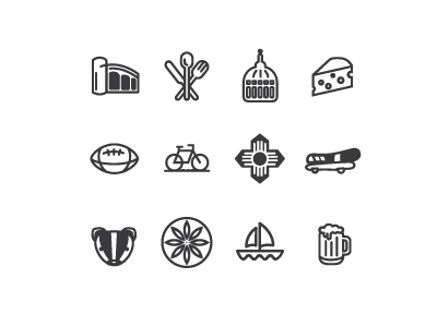 Free Madison Icon Set by Kelly Rauwerdink in 2014年10月的28个免费扁平化图标合集