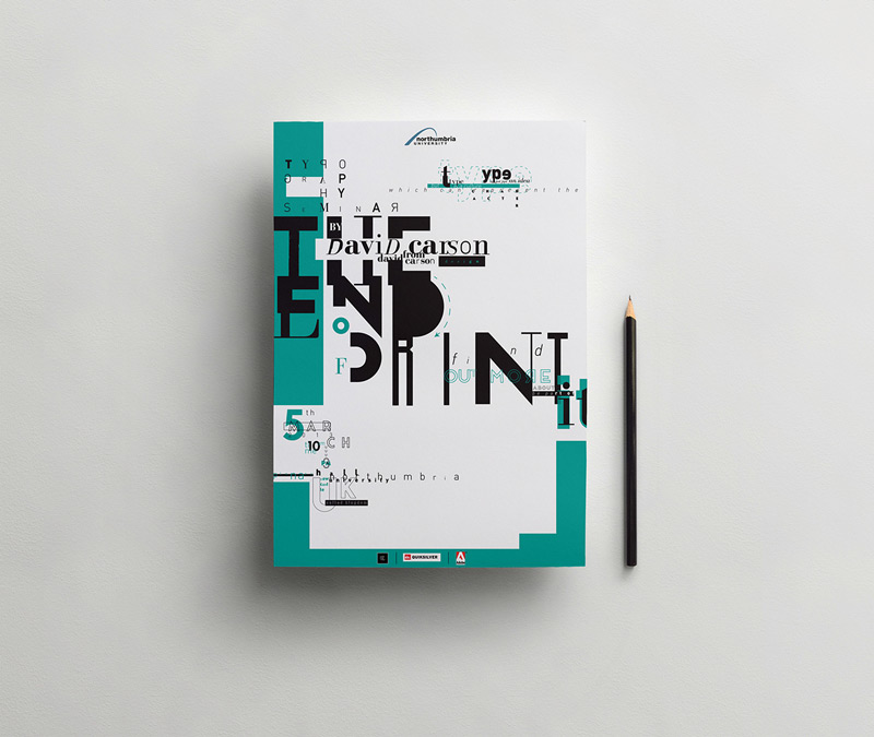 The End Of Print by David Carson Poster by wildan ilham mahibuddin in 时尚有创意的字体设计灵感分享