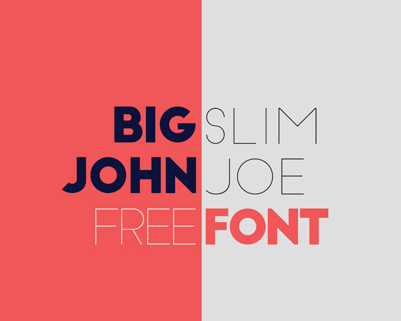 Big John / Slim Joe Free Font by Ion in 2014年10月的20套新鲜字体下载