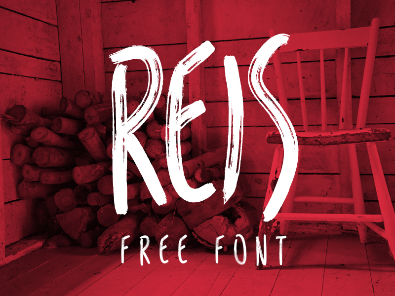 Reis Free Font by Marcelo Reis Melo in 2014年10月的20套新鲜字体下载