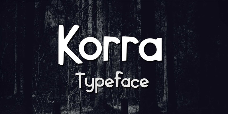 Korra Free Typeface by Mercan Cebe Alper in 2014年10月的20套新鲜字体下载