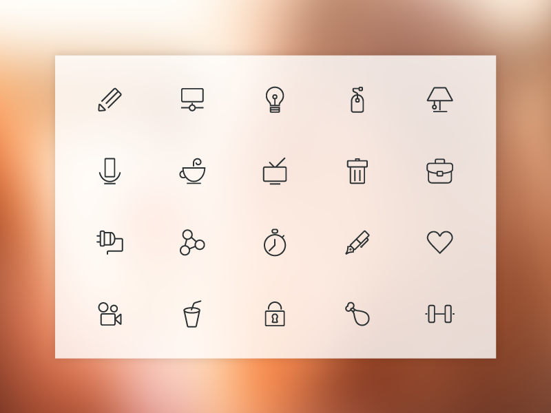 20 Free Line Icons by GraphBerry in 2014年11月的22个免费扁平化图标合集