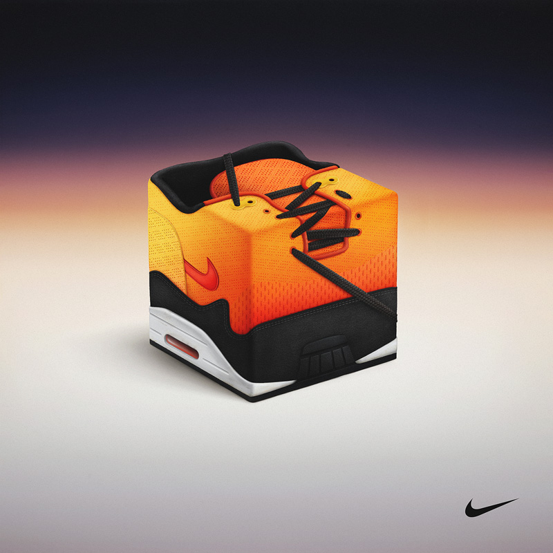 Sneakercube for Nike Air Max Sunset Pack inPawel Nolbert 的艺术作品展示