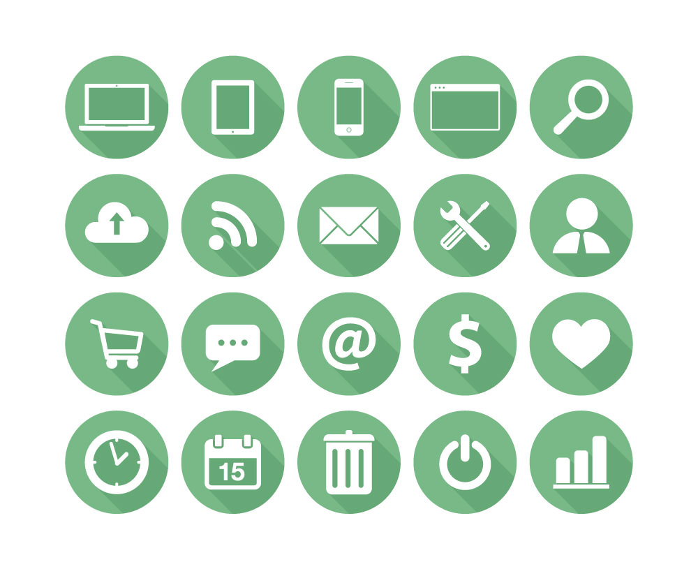 Free Collection of Flat Icon for Business by WooRockets in 2014年11月的22个免费扁平化图标合集