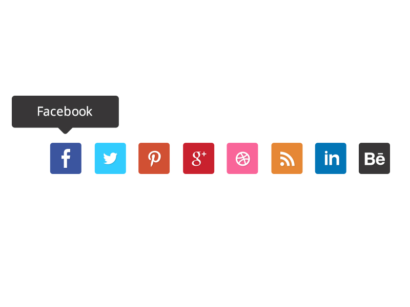 Social Media Free Flat Icons by Candence in 2014年11月的22个免费扁平化图标合集