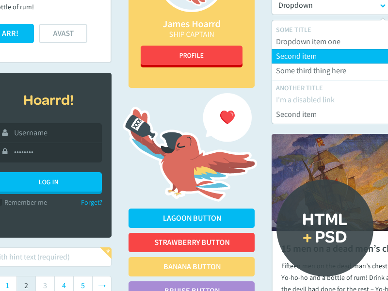Free HTML + PSD UI Kit by Riki Tanone in2014年11月最新的手机app界面ui套装psd下载