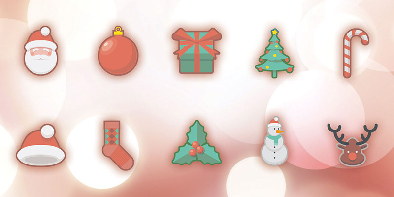 Christmas Holidays Free Icon Set by Oxygenna in 40个圣诞矢量图标的饕餮大餐下载