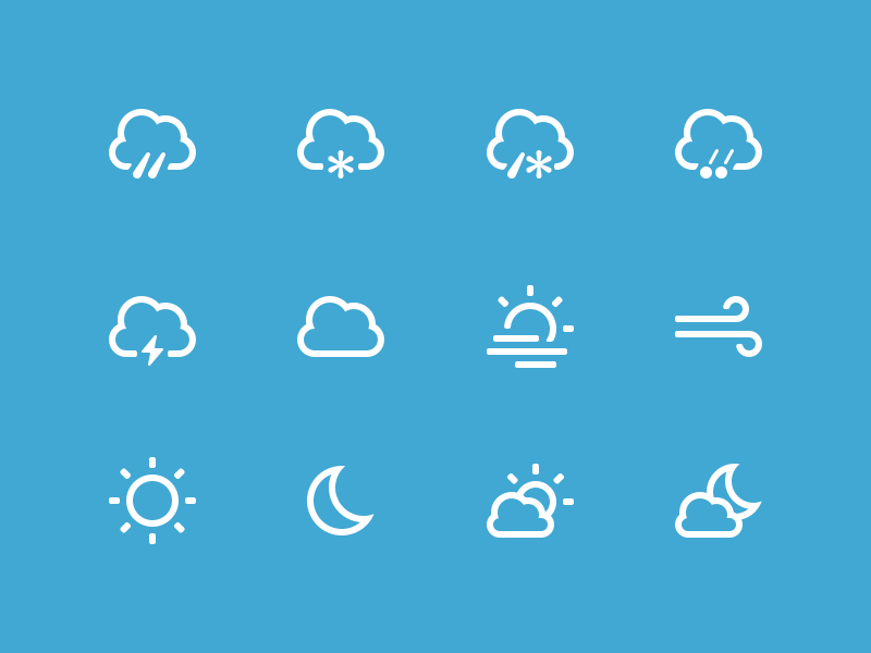 Weather Icons by Thom for DuckDuckGo in 40个圣诞矢量图标的饕餮大餐下载
