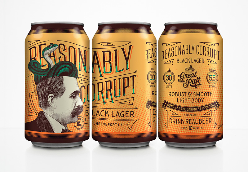 Reasonably Corrupt by DeRouen & Co. in Package Design Inspiration for December 2014