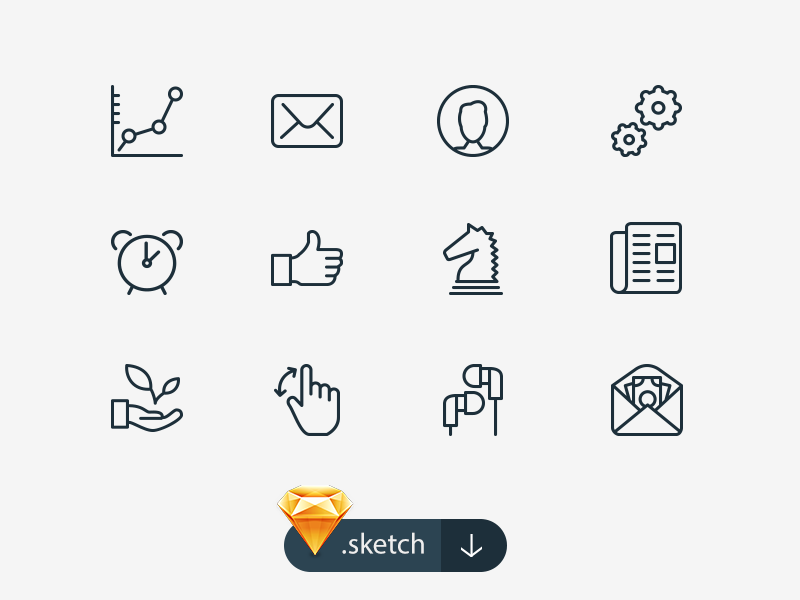 100 Free Sketch Icons by Icons Mind in 40个圣诞矢量图标的饕餮大餐下载