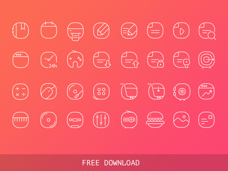 Free Vector Iine Icons by sumit chakraborty in 40个圣诞矢量图标的饕餮大餐下载
