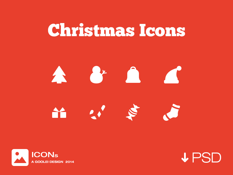 Christmas Icons by Goolei in 40个圣诞矢量图标的饕餮大餐下载