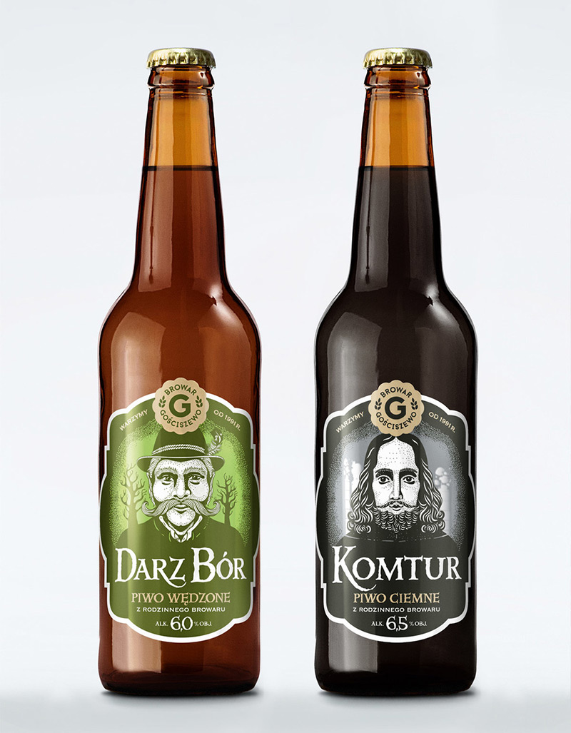 Gosciszewo Brewery – The Characters by Ostecx Créative in Package Design Inspiration for December 2014