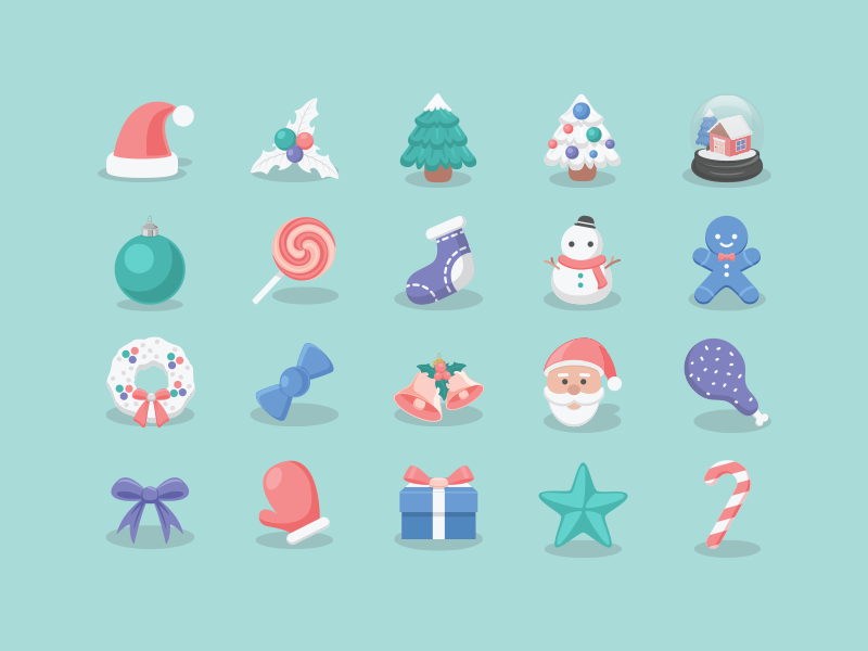 Christmas Icons 2015 by Sunbzy in 40个圣诞矢量图标的饕餮大餐下载