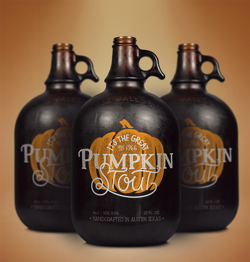 Pumpkin Stout by Theresa Garritano Design & Spiceworks in Package Design Inspiration for December 2014