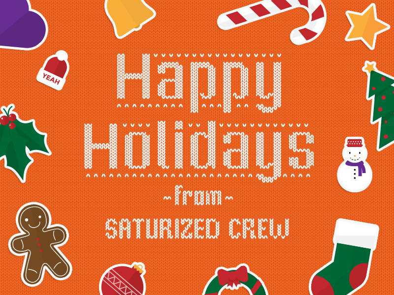 Happy Holidays from Saturized crew by Saturized in 40个圣诞矢量图标的饕餮大餐下载