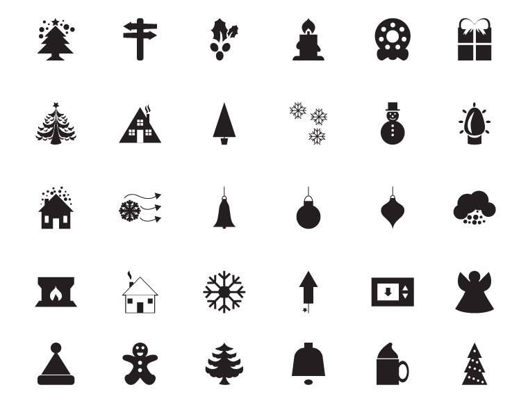 30 Free Christmas Vector Icons by Webmaster-Deals.com in 40个圣诞矢量图标的饕餮大餐下载