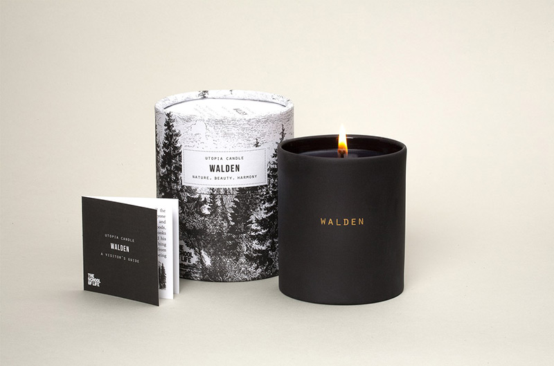 Walden Candle by The School of Life in Package Design Inspiration for December 2014