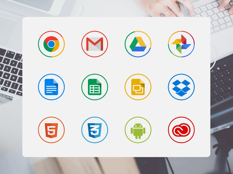 Free circle icons for designers by Michal Kulesza in 40个圣诞矢量图标的饕餮大餐下载