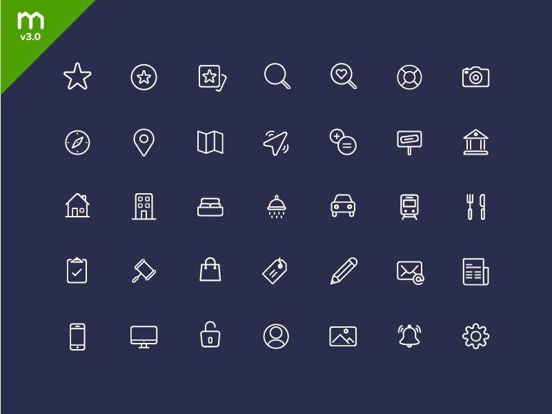 Domain - Icon set 2015 by Andrew McKay in 40个圣诞矢量图标的饕餮大餐下载