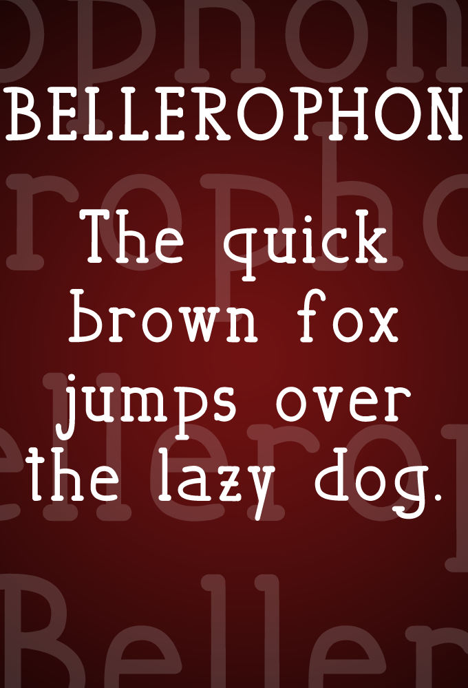 Bellerophon by Marco Ballare in 2015年1月整理的最新时尚设计字体下载