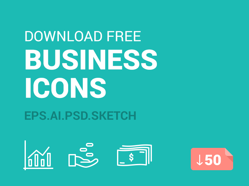 Free Business Icons by Icons Mind 2015年1月的扁平化图标合集下载