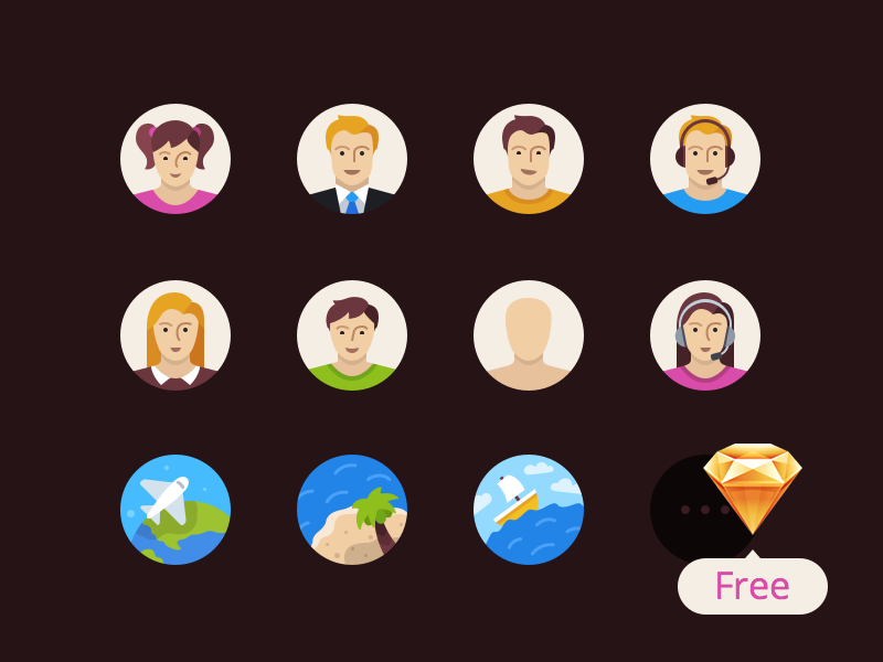 Flatflow Icons Free Sketch3 Resource by Anna Litviniuk in 2015年1月的23个免费的扁平化图标合集下载