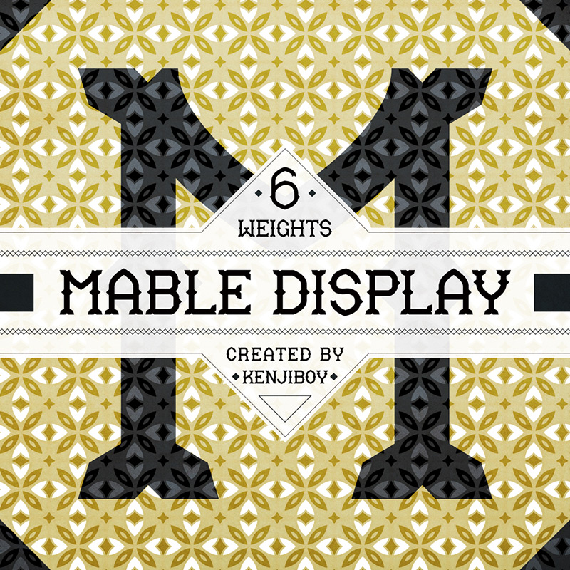 Mable Free Display Font by Kenji Enos in 2015年1月整理的最新时尚设计字体下载