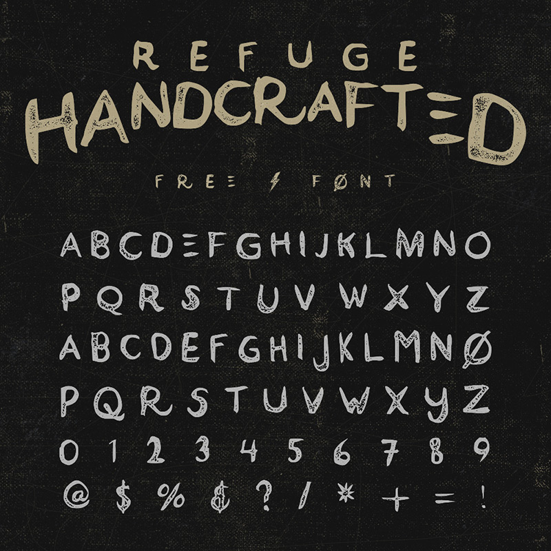 Refuge Free Font by Grant Beaudry in 2015年1月整理的最新时尚设计字体下载