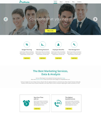 30个惊人的网页设计模版下载Free Responsive Marketing Company HTML5 Theme