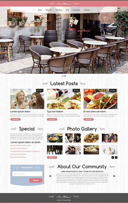 30个惊人的网页设计模版下载Free WordPress Delicious Restaurant Template