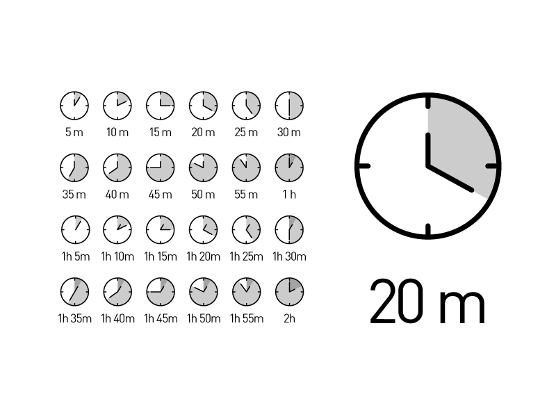 Free time duration icons by Dario Stefanutto in 2015年1月的23个免费的扁平化图标合集下载